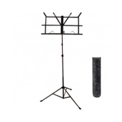 Cecilio MSD Foldable Music Sheet Steel Stand with Carrying Bag