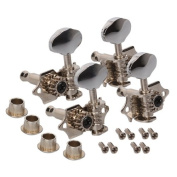 Generic Chrome Tuning Pegs Machine Heads 2R2L For Ukulele 4 String Guitar Bass