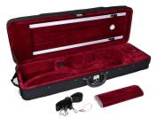 TMS® New Black 4/4 Enhanced Violin Case w/ Built-in Hygrometer & Carry Straps