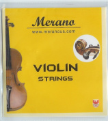 Merano 1/2 - 1/4 Size Violin String Set (G-D-A-E) ~ Beginner, Student, Replacement