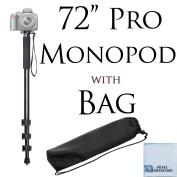 Pro Series 180cm Monopod w/ Quick Release For Canon, Nikon, Sony, Samsung, Olympus, Fujifilm, Panasonic & Pentax + eCostConnection Microfiber Cloth