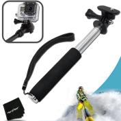 Xtech® Extendable Waterproof Handheld Monopod POLE for GoPro HERO4 Hero 4, GoPro HERO3 Hero 3, GoPro Hero3+, GoPro Hero2, GoPro HD Motorsports HERO, GoPro Surf Hero, GoPro Hero Naked, GoPro Hero 960, GoPro Hero HD 1080p, GoPro Hero2 Outdoor Edit ..