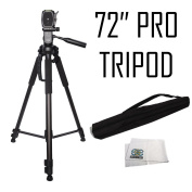 Professional 180cm Tripod 3-way Panhead Tilt Motion with Built In Bubble Levelling for Sony NEX-5, A65, A77,A77ii, A99, A65, A35, A55, A57, A58, A33,A37, A380, NEX-5, Nex 5tl, NEX-6, NEX-7, A230, A390, A380, A500, A280, A290, A330, A450, A500, A850, A5 ..