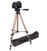DURAGADGET Sturdy Professional Lightweight Aluminium Tripod for the Sony DSC-H300 / H300 Digital Compact Camera - Black (20.1MP, 35x Optical Zoom) & Sony NEX-5RK