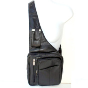 Genuine Leather Sling Messenger Backpack Organiser