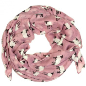 New Womens Large Size SHEEP Print Scarf Scarves Lightweight Printed Scarfs