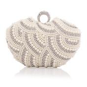 ERGEOB® Women Clutch bag Evening Bag handbag Handmade beads diamond ring buckle bag
