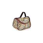 Leopard Yellow Pattern Cosmetic Make up Travel Package Case Pouch - Model 284 [ARTUROLUDWIG]