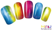 Vivid Neon Water Decal Nail Art Stickers, Decals, Tattoos