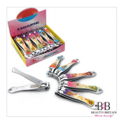 """12 x BIG STAINLESS STEEL HAND TOE NAIL CUTTER CLIPPER TRIMMER """"Romantic"""""""