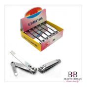 """12 x BIG STAINLESS STEEL HAND TOE NAIL CUTTER CLIPPER TRIMMER """"Plain2"""""""