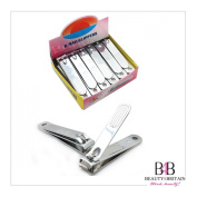 """12 x BIG STAINLESS STEEL HAND TOE NAIL CUTTER CLIPPER TRIMMER """"Plain"""""""