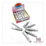 """12 x BIG STAINLESS STEEL HAND TOE NAIL CUTTER CLIPPER TRIMMER """"Flowers"""""""