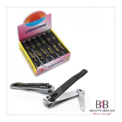 """12 x BIG STAINLESS STEEL HAND TOE NAIL CUTTER CLIPPER TRIMMER """"Black Bamboo"""""""