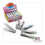 """12 x STAINLESS STEEL HAND TOE NAIL CUTTER CLIPPER TRIMMER """"Two Flowers"""""""