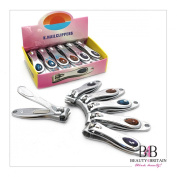 """12 x STAINLESS STEEL HAND TOE NAIL CUTTER CLIPPER TRIMMER """"Stone"""""""