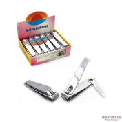 """12 x STAINLESS STEEL HAND TOE NAIL CUTTER CLIPPER TRIMMER """"Smooth"""""""