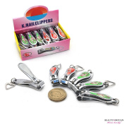 """12 x SMALL STAINLESS STEEL HAND TOE NAIL CUTTER CLIPPER TRIMMER """"Cartoon"""""""