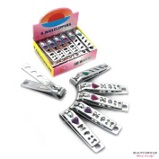 """12 x SMALL STAINLESS STEEL HAND TOE NAIL CUTTER CLIPPER TRIMMER """"Diamonds"""""""