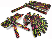 72 x NAIL FILES DIFFERENT DESIGNS DOUBLE SIDED WHOLESALE