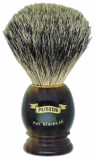 Plissons 5551 Shaving Brush - Horn-Shaped Handle with Pure Grey Bristles