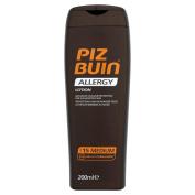 Piz Buin Sensitive Skin Allergy Sun Protection Lotion Spf 200ml 15 Medium