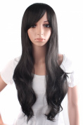 MapofBeauty Fashion Women's Natural Long Curly Wig