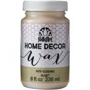 FOLKART Plaid 34170 Home Decor Wax, 240ml, Clear