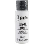 FolkArt Enamel Glass & Ceramic Paint in Assorted Colours (60ml), 4001, Wicker White