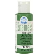 FolkArt Enamel Glass & Ceramic Paint in Assorted Colours (60ml), 4036, Evergreen