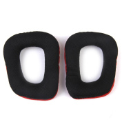Replacement Ear Pads Cushions for G35 G930 G430 F450 Headphone Red and Black