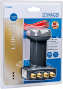 Schwaiger extremely heat resistant SUN Protect Quattro LNB Anthracite