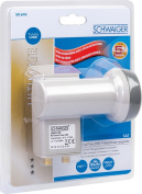 Schwaiger extremely heat resistant SUN Protect Twin-Lnb Light Grey