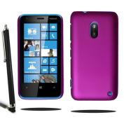 Nokia Lumia 620 Hybrid Hard Case Clip ON Cover + Screen Protector + Stylus