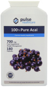 Pulse Healthcare 700mg Pure Acai Slimming Aid Premium Quality GMP Supplement - Pack of 180 Capsules