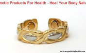 MAGNETIC THERAPY RING 3303 EYE STYLE SILVER / GOLD PLATED ON COPPER