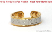 MAGNETIC THERAPY RING 3301 GOTHIC STYLE SILVER / GOLD PLATED ON COPPER