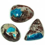 Cavansite with Stillbite in matrix Tumble Stone 30-35mm