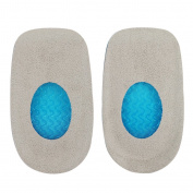 Footful Women's Velvet Gel Heel Cups Spur Pads Support Cushions for Plantar Fasciitis