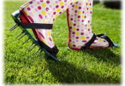 Lawn Breather /Aerator Sandals Spiked Shoes
