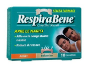 Breathe Right Nasal Balsamic Patches For Adults 10 Pieces