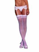 Dreamgirl Women's Sultry Nights Garter Belt, White, One Size