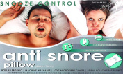 ANTI SNORE orthopaedic PILLOW STOP SNORING HOLLOWFIBRE FILLING PETITE CORE SNOOZE RELIEF CONTROL PILLOW