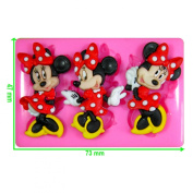 Minnie Mouse Silicone Mould Mould for Cake Decorating Cake Cupcake Toppers Icing Sugarcraft Tool by Fairie Blessings