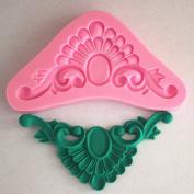 Longzang Art Deco Silicone Mould Sugar Craft DIY Gumpaste Cake Decorating Clay