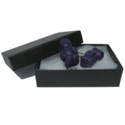 Handmade Fimo Novelty Fun Food - Purple Jelly Baby Sweets Cufflinks - Gift Boxed
