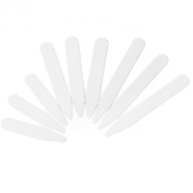 Set of 200pcs Plastic White Collar Stays Bones Stiffeners 3 Sizes Mens Gift New