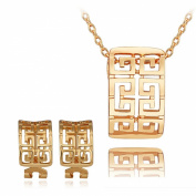 18 k gold plated necklace earrings jewellery suit vogue and cute design