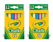 2x Crayola - Anti Dust Assorted Chalk