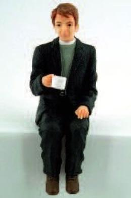 Vicar Taking Tea Resin Doll 1:12 Scale Figurine for Dolls House (DP312)